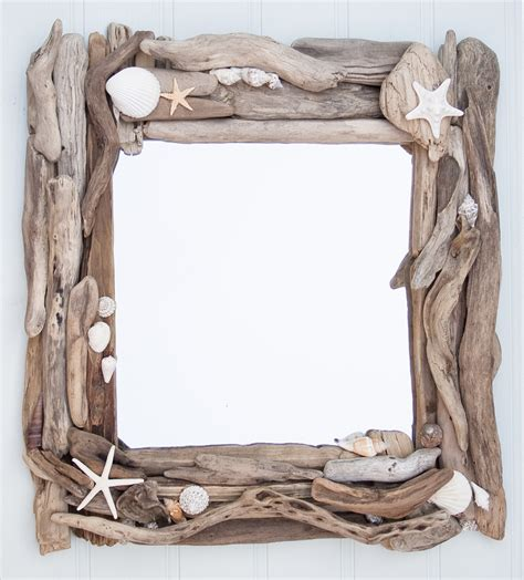 shell bathroom mirror driftwood and sea shell mirror driftwood dreaming