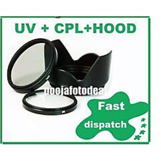 buy 58mm lens hood + saftey uv + cpl lens filter for canon