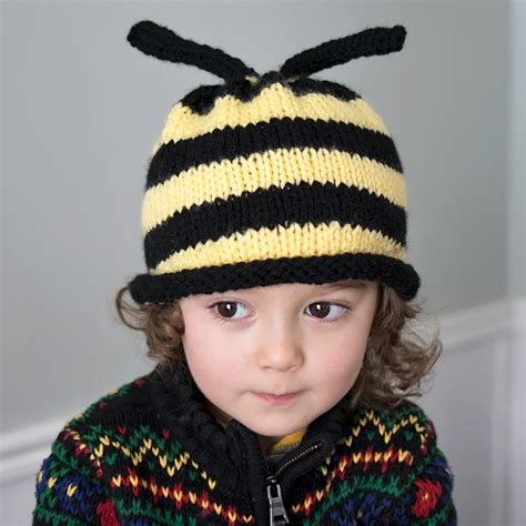 Bee Knit Hat bumble bee hat knitting pattern michele