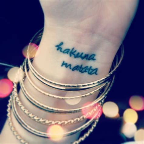 hakuna matata wrist tattoo 25 best ideas about small disney tattoos on