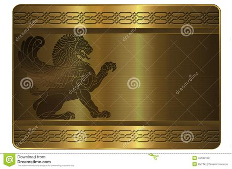 osaa gold card template gold card template stock illustration illustration of