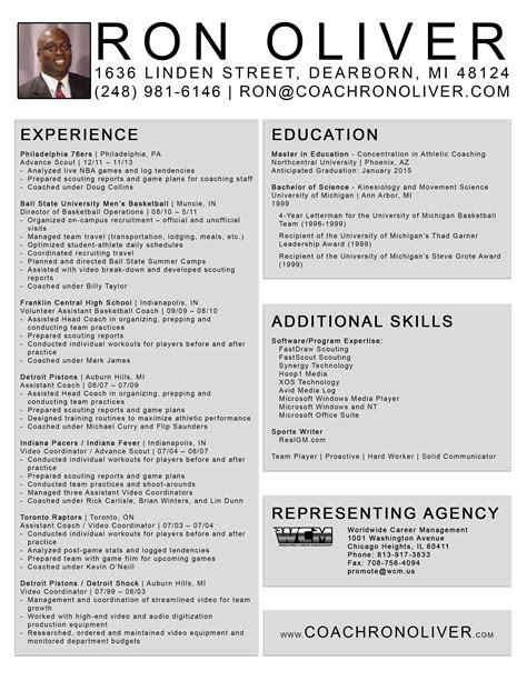 Basketball Coach Resume Images Frompo 1 Football Coaching Portfolio Template