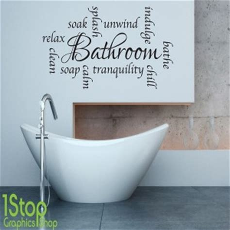 word for bathroom in england bathroom wall sticker relax unwind words home wall art