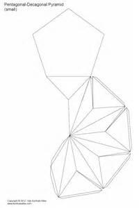 paper pentagonal decagonal pyramid triakis pentagonal