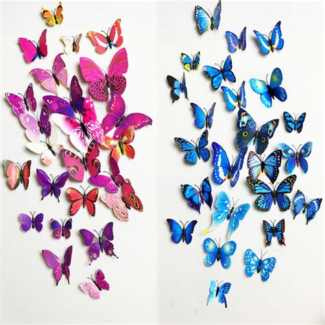 your supermart 12pcs 3d butterfly aliexpress buy free shipping 12pcs pvc 3d butterfly