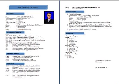 panduan membuat resume ringkas contoh cv