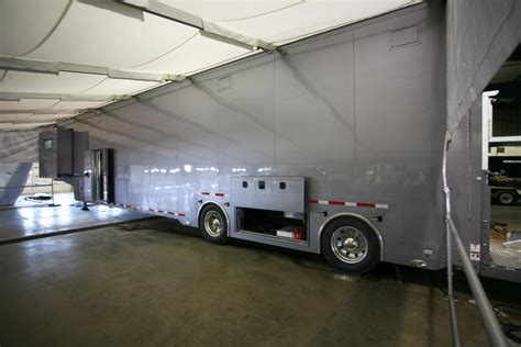 race car trailer awnings new featherlite trailers delivered featherlite blog