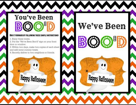 free printable you ve been booed sign you ve been boo d printable the girl who ate everything