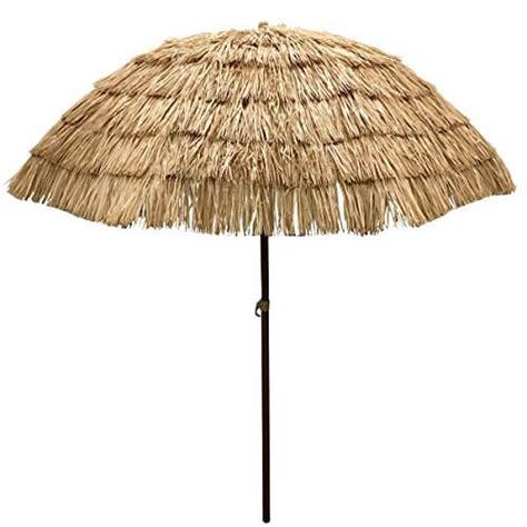 grass patio umbrellas easygo 6 5 ft thatch patio tiki umbrella nifty homestead