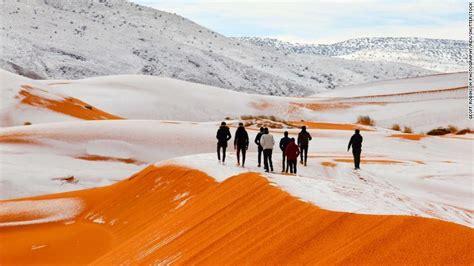 Snow In Sahara Cnn Co Jp サハラ砂漠に異例の積雪 過去40年で3度目