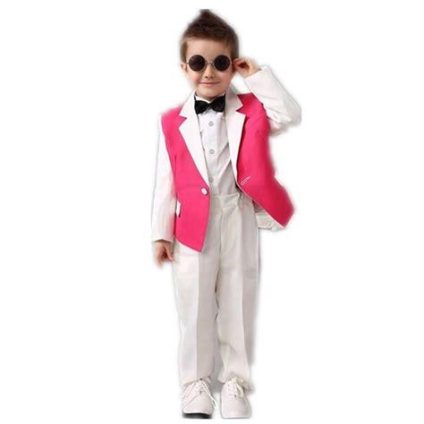 Wedding Attire For Baby Boy by White Pink Boys Tuxedos Wedding Attire Baby Boy Dress