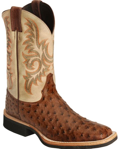 ostrich boots justin aqha quill ostrich cowboy boots square toe