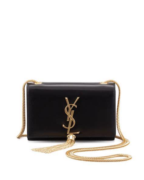 saint laurent cassandre small tassel crossbody bag black