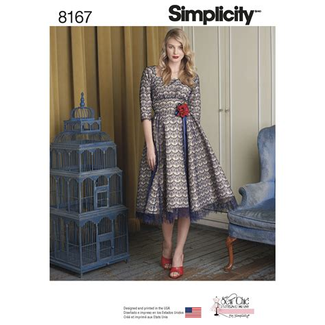 pattern sewing simplicity simplicity 8167 misses sew chic dress