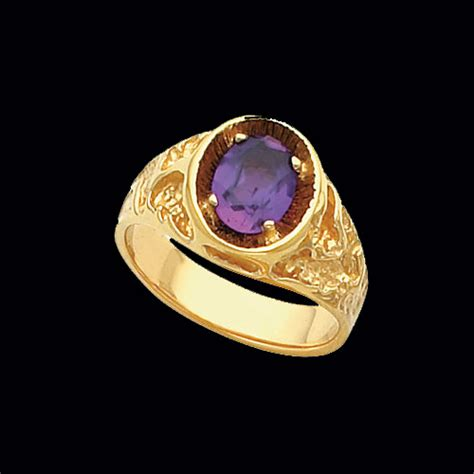 s rugged nugget gemstone ring