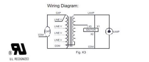 metal halide ballast wiring diagram hid 100 watt m90 metal halide ballast questions