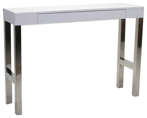 Modern Console Table Tura Console Table White Lacquer Modern Console Tables By Moe S Home Collection