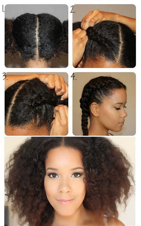 how to control afro style hair 7 steps with pictures natural haired girls can try this tight french braid idea