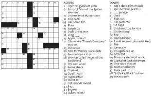 Printable easy crossword puzzles with answers