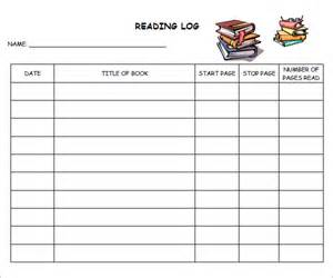 Daily Reading Journal Template by 9 Reading Log Templates Free Pdf Doc