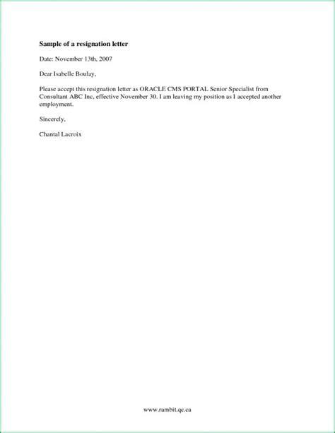 Simple Resignation Letter Format