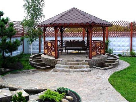 backyard with gazebo 22 beautiful metal gazebo and wooden gazebo designs