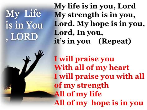is my in my is in you lord