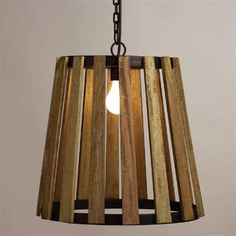 wood slat wood slat pendant l world market