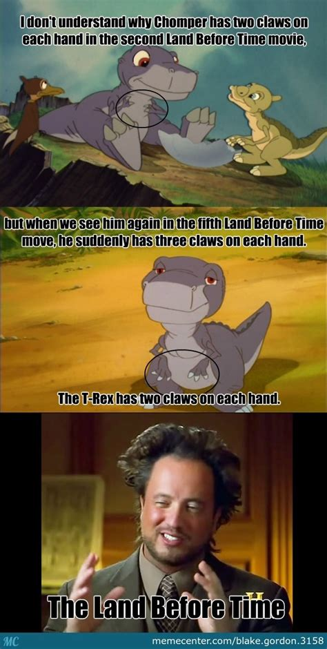 Land Before Time Meme - land before time logic and chomper by blake gordon 3158
