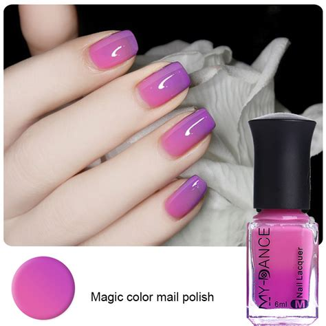 color changing nail 6ml thermolack peel farbwechsel nagellack nail color