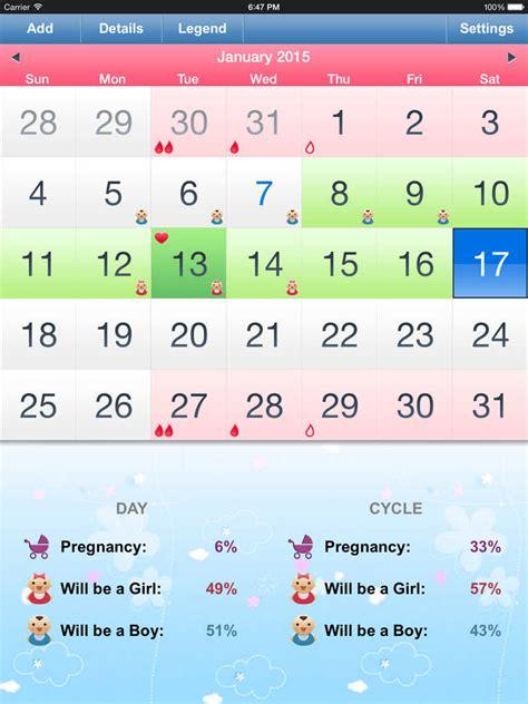 Conceiving Calendar App Shopper Menstrual Calendar Ovulation Calculator