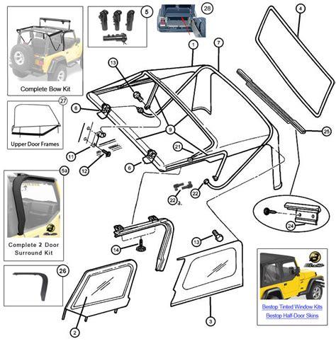 Jeep Tj Soft Top Parts Interactive Diagram Mopar Soft Top Hardware For Jeep