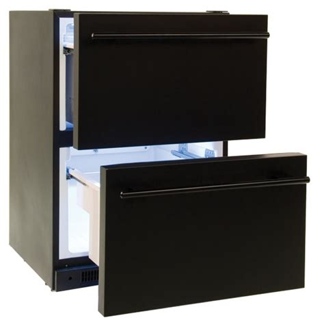 Counter Fridge Drawers by Haier 5 4 Cu Ft Built In Counter Dual Drawer