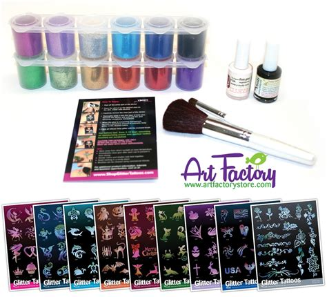 glitter tattoo kits glitter kit glimmer henna tattoos