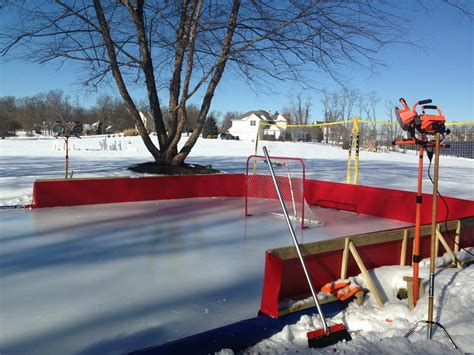 thanks to polar vortex caps fans create backyard hockey