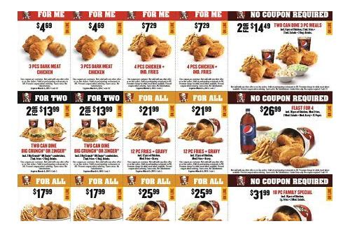 kfc coupons canada dec 2018