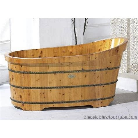 wood bathtub wooden bathtub
