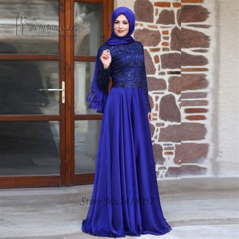 Dress Muslim Black Lace Set aliexpress buy purple sleeves muslim evening dress lace in dubai abaya kaftan