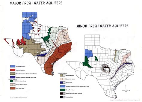 texas water aquifer map atlas of texas perry casta 241 eda map collection ut library