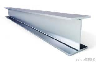 Steel beams are manufactured in a number of shapes and lengths