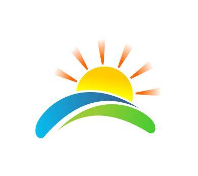 vector green sun logo  vector logos
