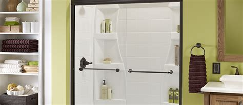 Bathroom Shower Ideas Pictures by Sliding Glass Shower Doors For Tubs Amp Walk In Delta