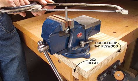 how to mount a bench vice mobile machinist s vise popular woodworking magazine