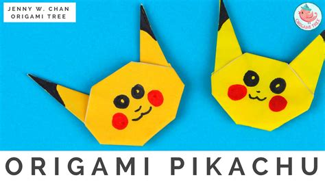 tutorial origami pokemon origami pikachu pok 233 mon origami 187 origamitree com