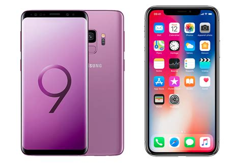 comparatif iphone x vs samsung galaxy s9 lequel choisir