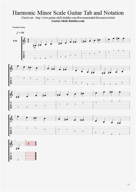 harmonic minor scale guitar lesson