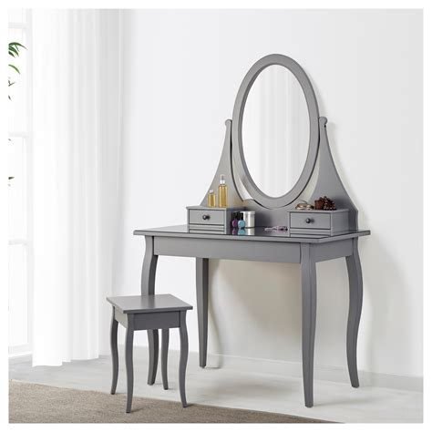 Ikea Vanity Table With Mirror And Bench Hemnes Dressing Table With Mirror Grey 100x50 Cm Ikea