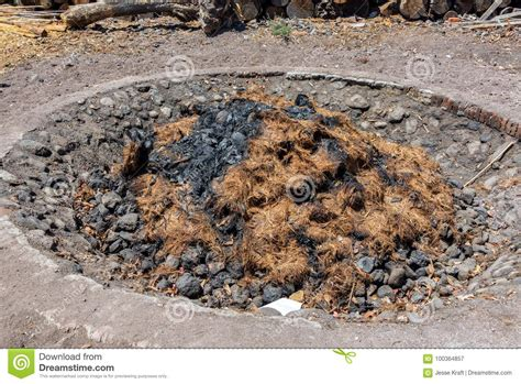 used pit pit used in mezcal production stock image image 100364857