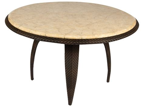 48 marble table whitecraft bali wicker 48 round stone top dining table