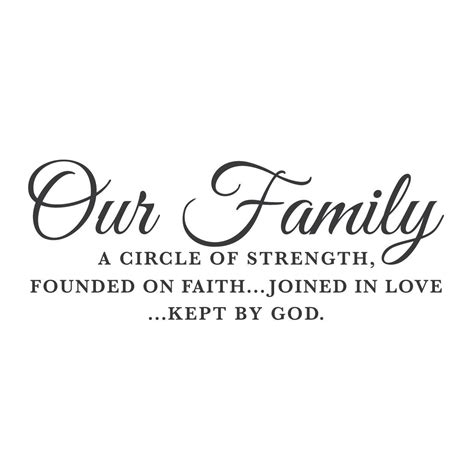 wall quotes wall decals quot our family a circle of